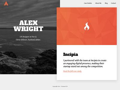 Homepage Redesign design web typography logo website personal branding white red grayscale portfolio homepage