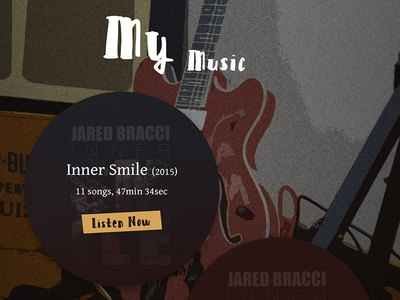 Jared Bracci Music album guitar ui layout type design music branding texture website