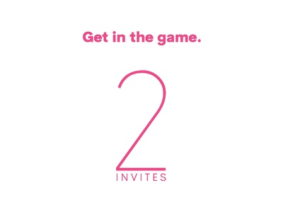 2 Dribbble Invites pink two dribbble game on get in the game invites dribbble invite