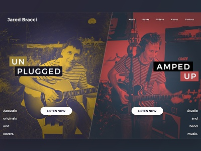 Jared Homepage Split mockup homepage duotone color angled split