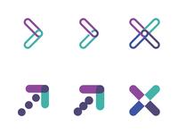 Logo Concepts blue green purple concept logo