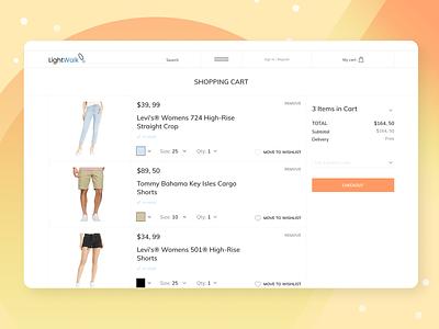 Online clothes store cart shopping ux online shop shop store clothes responsive web e-commerce ecommerce design ui