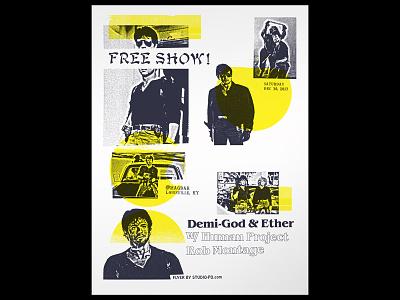 Demi-God & Ether stallone cobra poster flyer