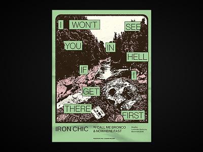 Iron Chic gig poster iron chic