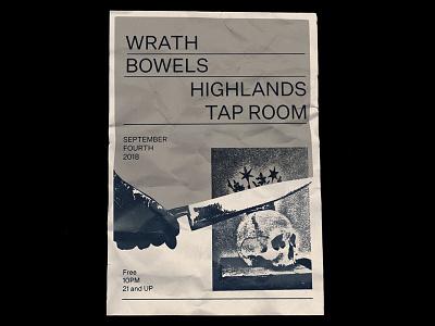 Wrath / Bowels gigposter flyer