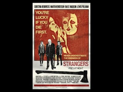 Prey at Night strangers poster art print design collage