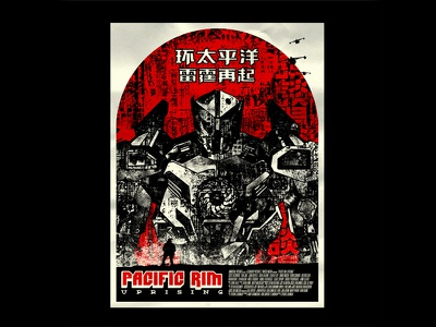 Pacific Rim Uprising poster design collage