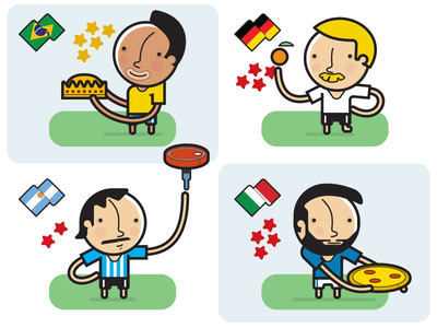 Fifa WC Champs vector character football illustration infographic icon