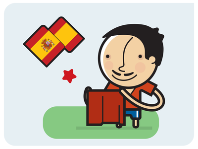 Spain - Fifa WC Champs football icon adobeillustrator illustration infographic vector