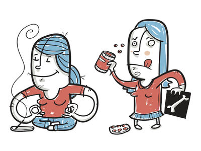 Hypochondriacs character simple illustration vector