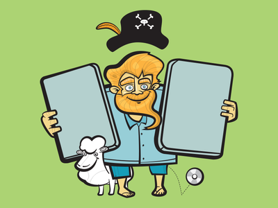 Pirate Party character adobeillustrator vector illustration