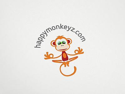Happy Monkey monkey happy meditation fun funny cute