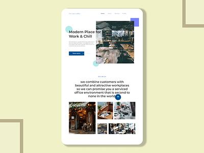 Cafe Shop Landing Page ux design ui