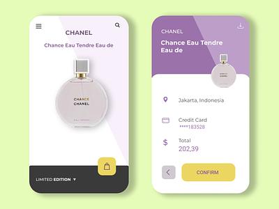 Parfume Shop ux design ui