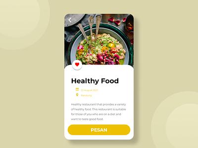 Order food by Online design ux ui
