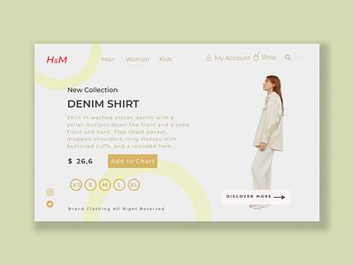 Online Clothes Shop branding ui ux design