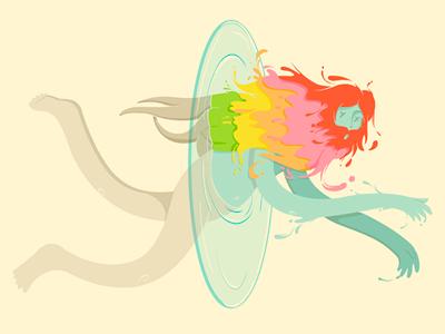 Change is good illustration art drawing colour beard man water fluid