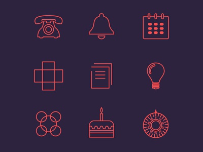 Icons Vincles icon icons design illustration illustrator graphic stroke red mobile app interface