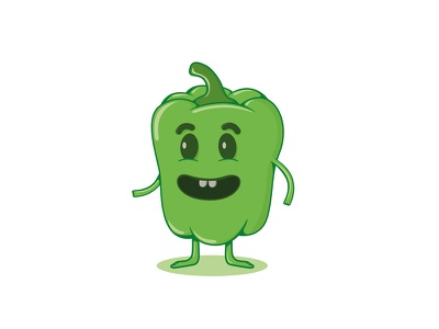 Pim frute illustration drawing character green pepper