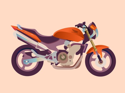 CB 600 F Hornet motorcycle motorbike vector drawing illustration bike