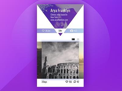 Profile concept design ux ui mobile app