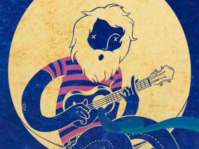 Guitar Hole illustration music guitar