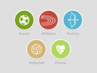 Sportpark Icons