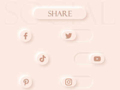 Social share button/icons icon ux ui design
