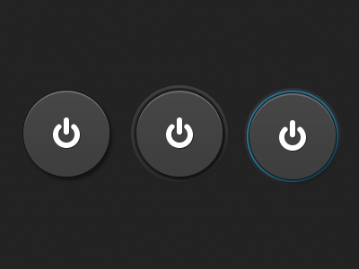 Power Buttons ui dark button power on off simple