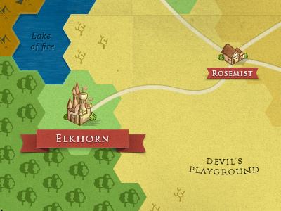 Fantasy game hex map