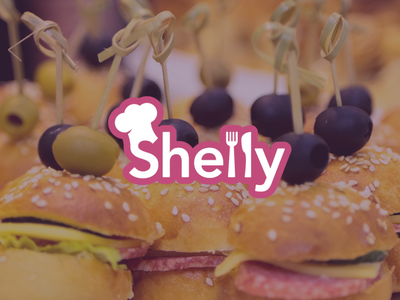 Shelly food design graphic design logo catering