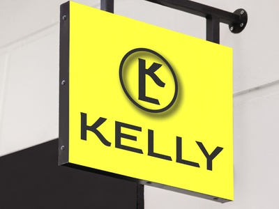 kelly yellow logo 3d logo coorporate logo company logo illustrator minimalist logo modern logo logo design