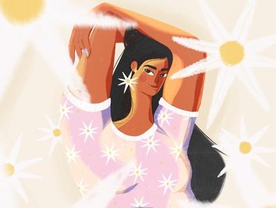 Summer vives character woman illustration design girl ipad digital digital illustration illustration