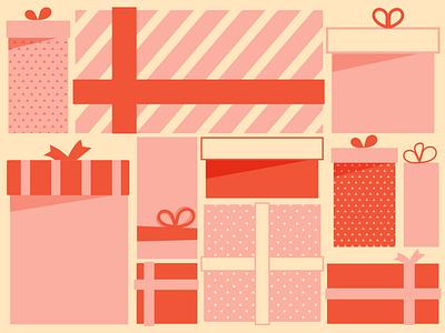 Tons of presents pink digital illustration email banner christmas eventbrite