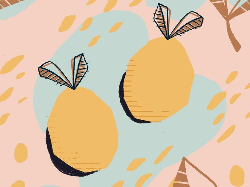 Lemons pattern lemons yellow digital ipad procreate digital illustration illustration