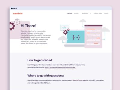 Eventbrite API Faqs Landing Page