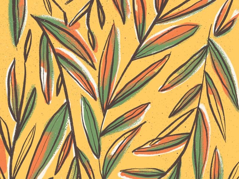 Pattern digital procreate leaves pattern leaves pattern design pattern art pattern illo yellow design ipad digital illustration illustration