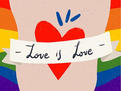 Love is love❤️ pride 2019 design color equality ipad procreate love is love pride illustration