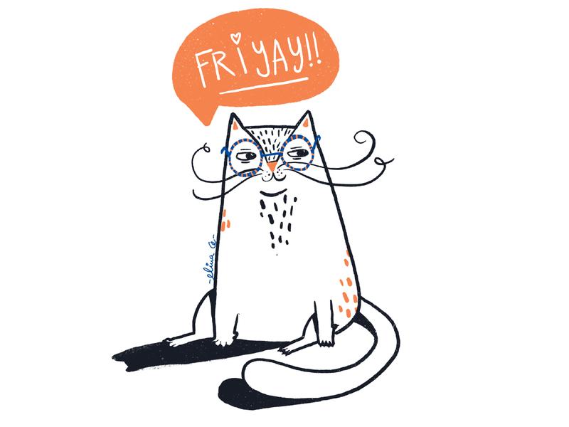 Friyay <3 design illustrator illo orange cats cat ipad digital procreate digital illustration illustration