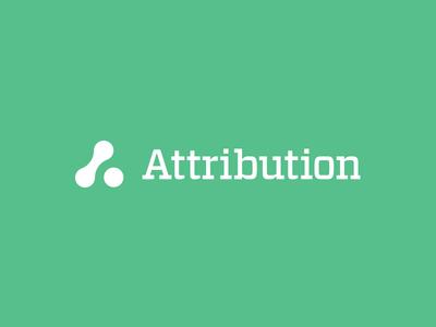 Attribution Logo logo vitesse attribution analytics