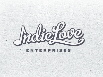Show me that indie love typesetting typography script sign painter soul logo