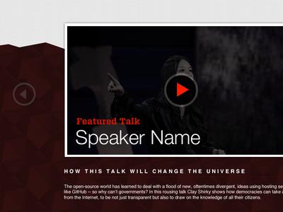Good talk slider video ted tedx vancouver pattern