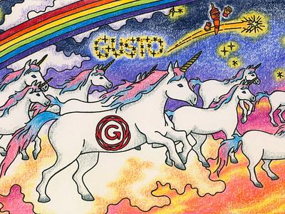 Gusto design logo branding illustration