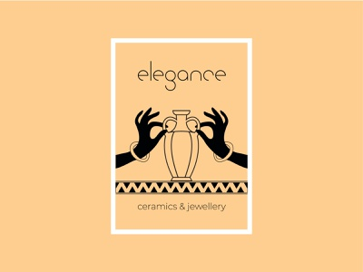 Elegance. vector typography illustration design
