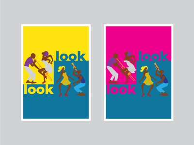 Look. vector typography illustration design