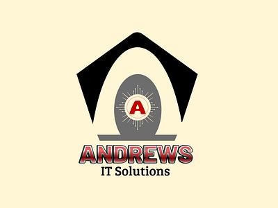 Sample Logo for Andrews IT Solution inkscape illustration graphic design vector logo icon flatminimalist design branding