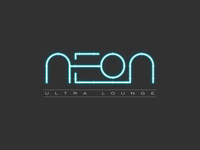 Neon Ultra Lounge Logo neon lights drinks logo bar branding