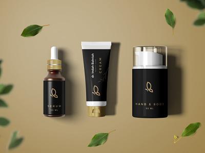 dr. Indah Bahriah Logo & Packaging beauty care packaging design identity design branding design logo