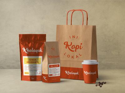 Khalayak Kopi - Brand Identity typography lettering wordmark type logo packaging badge label coffee brand strategy brand brand identity branding
