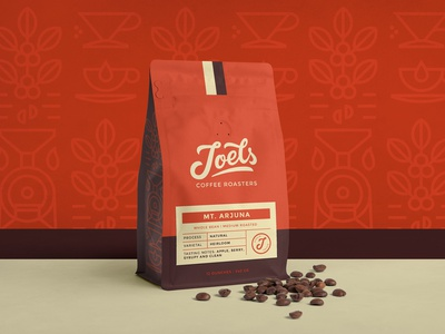 Joels Coffee Packaging Design logodesign design type typography lettering brand identity branding logo emblem label packaging design coffee roasters coffee